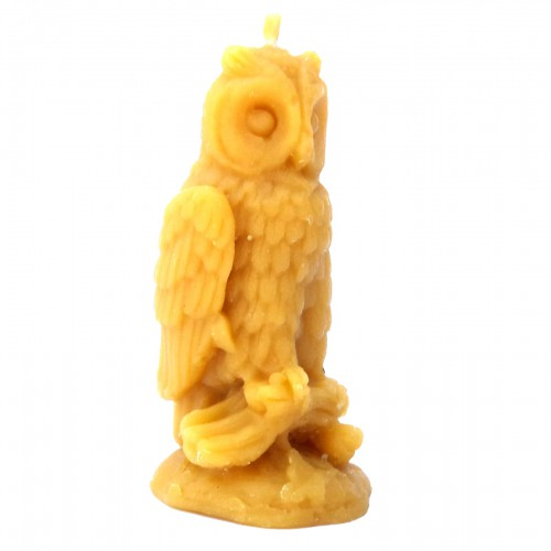 Sowa na gałęzi - świeca