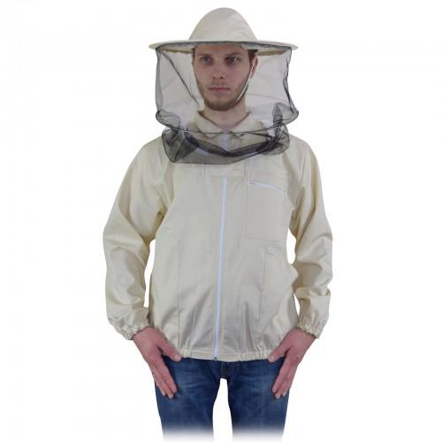 Bluza pszczelarska z kapeluszem rozpinana ELANA
