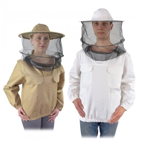 Bluza pszczelarska z kapeluszem nierozpinana PREMIUM
