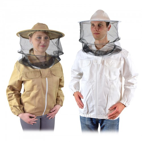 Bluza pszczelarska z kapeluszem rozpinana PREMIUM