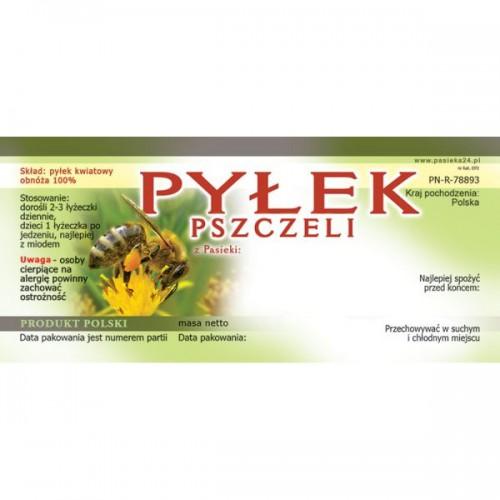 Etykiety na pyłek, pierzgę i propolis 50 szt.