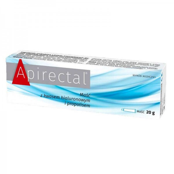 Apirectal maść z propolisem i kwasem hialuronowym 20 g