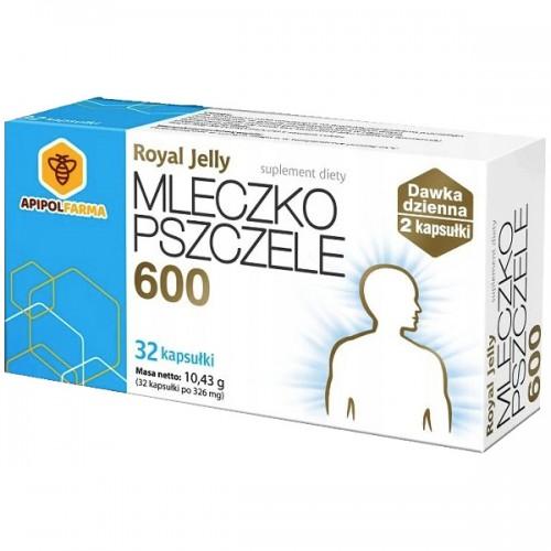 Mleczko pszczele ROYAL JELLY 600 - 32 kapsułki