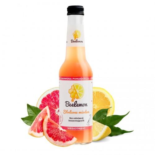 Lemoniada miód - czerwona pomarańcza - cytryna 275 ml