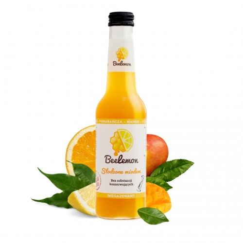 Lemoniada miód - pomarańcza - mango - cytryna 275 ml