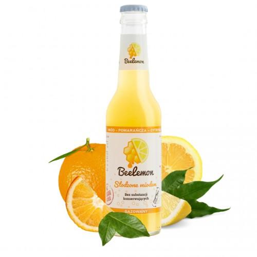 Lemoniada gazowana miód - pomarańcza - cytryna 275 ml
