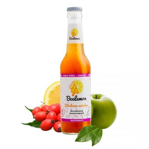 Lemoniada gazowana miód - dzika róża - jabłko - cytryna 275 ml
