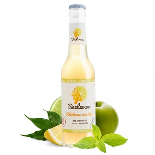 Lemoniada gazowana miód - jabłko - limonka - mięta 275 ml